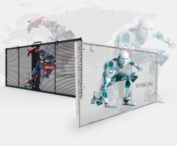 Outdoor Indoor HD étanche DEL transparente rideau d'écran d'affichage vidéo 1000*500mm pour la vitre d'éclairage (P3.9 P7.8)