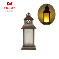 Lanterne solaire Hot-Sale Métal pour Noël et de décoration extérieure