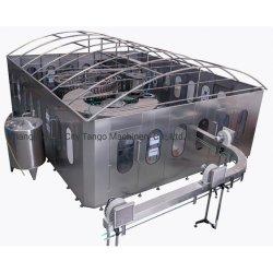 自動ガラスビンの注入口の飲料の液体のミネラル飲み物の純粋な水処理フィルター清浄器の満ちるびん詰めにする包装のシーリング生産ライン機械