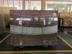 Pierres naturelles de l'Onyx rouge rubis populaire Jade pour l'intérieur de dalles de plancher de carreaux de paroi