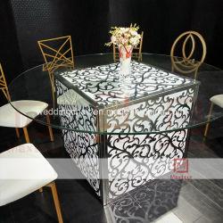 Banquet de mariage de meubles en acrylique carré LED avec table à manger