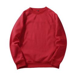 100% poliéster equipado Polar térmico rojo bordado en blanco Sudaderas Unisex