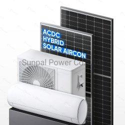 Sunpal acondicionador de aire Solar Panel Solar Híbrido Acdc Powered inversor directo PV las Energías Renovables Sistema de aire acondicionado