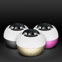 Fabrik-Preis-drahtlose Kugel-Form-runder Minibt-Lautsprecher mit LED-grellem Licht