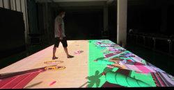 شاشة فيديو تفاعلية لنظام الرادار التفاعلي مع نظام LED للحفلات الموسيقية المرحلة الطابق