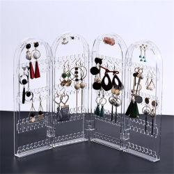 カスタムプラスチック水晶アクリルのパソコンPSの風防ガラスの白い宝石類の回転イヤリングの表示ホールダー