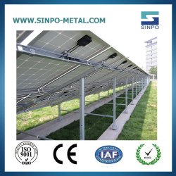 Opzettende Structuur van de Elektrische centrale van de Grond van de Tribune van het zonnepaneel de Zonne voor Zonnepanelen