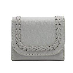 محفظة ثلاثية جديدة للسيدات قابلة للطي ثلاث طيات محبوكة يدويًا حقيبة يد صغيرة بطاقة Purse