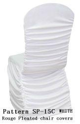 結婚式のための弁柄によってプリーツをつけられる椅子カバー