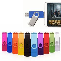 ملوّنة Twist OTG نوع USB 2.0/3.0 محرك القلم البلاستيك الدوار محرك أقراص USB محمول سعة 32 جيجا بايت سعة 128 جيجا بايت