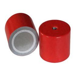アルニコ5の深い鍋の磁石の赤によって塗られる内部通された土台