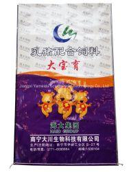 Soem PP gewebte Sack Tasche mit PE-Futter für Tier Maismehl Weizenmehl Weizenmehl Waschpulver Füttern