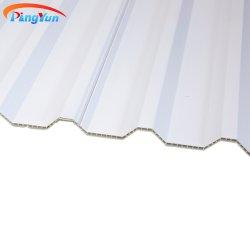 ASA PVC Hollow Roof Tile Hollow مقاومة للأشعة فوق البنفسجية Wave UPVC ورقة سقف من الجدار المتعدد لسقف السقف من البلاستيك المموج مواد السقف