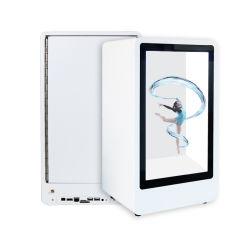 Kundenspezifischer LCD-transparenter Bildschirm androider OS-Bildschirm-Monitor, der Spieler bekanntmacht
