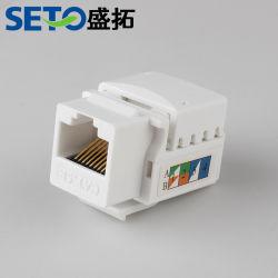 시토 팩토리 가격 이더넷 UTP Cat5e CAT6 키스톤 잭 180 패치 패널 벽 플레이트에 학위 모듈 사용
