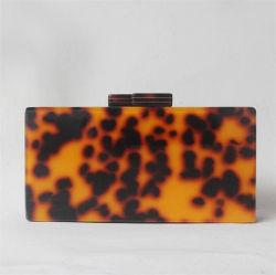 Drop Shipping Service luxe mode tortue soirée Crossbody acrylique Leopard Shell sac d'embrayage