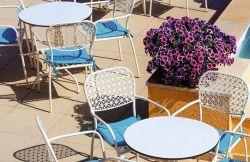 HPL 솔리드 페놀 야외 테이블, 방수, 자외선 내성