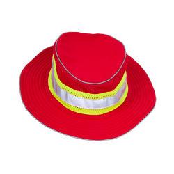 100% Polyester une visibilité améliorée pleine Brim Hat-Red