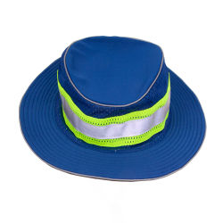 100% Polyester une visibilité améliorée pleine Brim Hat-Royal bleu