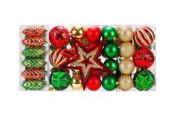 Árbol de Navidad colgando ornamento decoración decoración colorida bola chapado