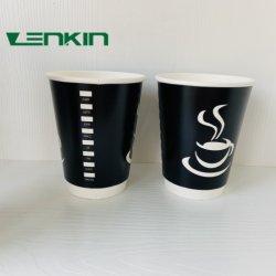 Кофейные чашки одноразовые бумагу верхней части OEM индивидуального логотипа на стене пункт кухни цвет грузовых нижней части