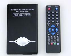 Портативный жесткий диск 2,5 дюйма SATA Media Player, Full HD 1080P 2,5-дюймовый жесткий диск Media Player с ПДУ на встроенный жесткий диск SATA (не включают в себя жесткого диска)