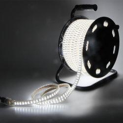 Lampada da lavoro a striscia LED CE AC230V AC220V SMD2835 3000K 4000K 6500K Illuminazione edilizia su tamburo 25m luce brillante IP65 per interni E per uso esterno