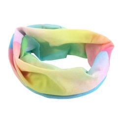 Piscina com cores diferentes a aplicar Sports Tie-Dyed Bandana Headwear ajustável
