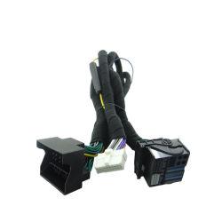 Lautsprecher-Energien-Kabel des Soem-ODM-Auto-Drahtseilbahn-Audiostereoverkabelungs-Verdrahtungs-weißes Kopf-DSP
