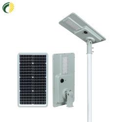 IP68 고출력 방수 일체형/통합형 에너지 절감 태양광 라이팅이 있는 LED 스트리트 라이트 모션 센서 시스템 및 (리튬 배터리) 정원 공원용