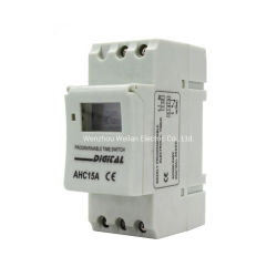 Las 24 horas LCD Digital Temporizador eléctrico el interruptor automático de la AHC15un interruptor de control de tiempo semanal de la CAH15A