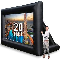 شاشة الأفلام القابلة للانتفاخ 20 قدمًا القابلة للانتفاخ للوسائد الهوائية الجانبية (PVC) الخارجية شاشة الإسقاط القابلة للانتفاخ الأمامية