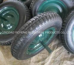 Rueda de carretilla de ruedas de plástico de la rueda rueda maciza Transportador de césped