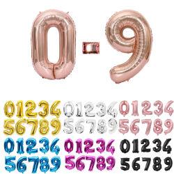디지털 Globos 생일 결혼식 훈장 Ballons 베비 샤워 공급이 16 32에 의하여 40 인치 은 금박지 수 팽창한다