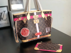 FrauenSilk-Screenform-klassische Luxuxmonogramm-Markendesign-Handtasche, Qualitäts-Schulter-Beutel-Handtasche der Lady Genuine Leather Limited-Ausgaben-Replik-L&/V