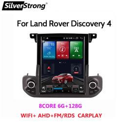 شاشة عمودية بنظام Android 11 بوزن 128 جم لسيارة لاند روڤر Discovery 4 راديو السيارة الوسائط المتعددة مشغل DVD تلقائي ملاحة استريو GPS 2DIN تيسلا
