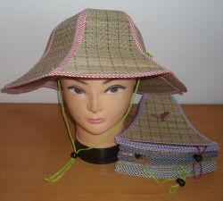 Alfombra de la tapa de paja plegable sombrero de paja