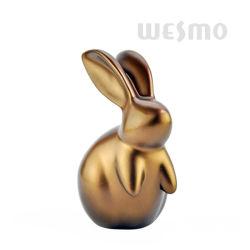 Polyresin Kaninchen-Ausgangsdekoration (WTS0022B)