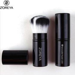 Zoreya Estética y Belleza desechables negro Pincel polvo retráctil