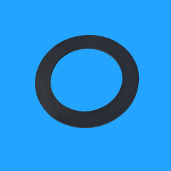 Taille personnalisée de couleur noire le joint plat de la rondelle en caoutchouc