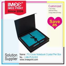 Imeeの印刷金属のペンとセットされるカスタムPUビジネスノート