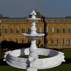 Fonte de água esculpida em mármore Garden Ornament fonte de pedra de granito