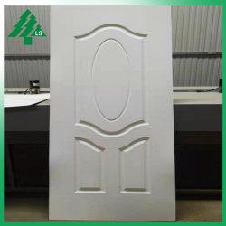 760*2150mm Grain du bois de la conception de la peau de la porte d'apprêt blanc HDF