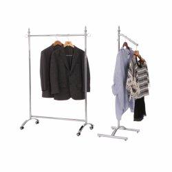 Простой Houseware одежду в топливораспределительной рампе для тяжелого режима работы для установки в стойку одежды, хром