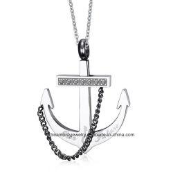Anker-Seil-Ketten-Piraten-Art-Halsketten-Anhänger der Männer, Edelstahl-Punkform-Halskette