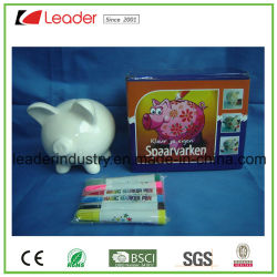 Hot Paint il vostro proprio Money Bank Kit di ceramica Pig con Sei vernici