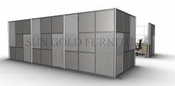 Modern meia parede de vidro Divisórias de madeira de partição parede de PVC (SZ-WST794)
