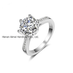 Elegante Super Luxury Wedding Ring Charmante 925 Silver Rings