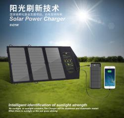 5V21W gefaltete Solaraufladeeinheit mit Sunpower den hohen Lichtern, die Sonnenkollektoren für Handy, iPad, Computer und neues Energie-Auto und seine Batterie-Aufladung fokussieren