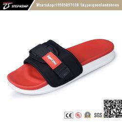 Elegante Vermelho macio tecido de PVC da Peneira Superior Sandals homens verão Sapata Deslizante 5324